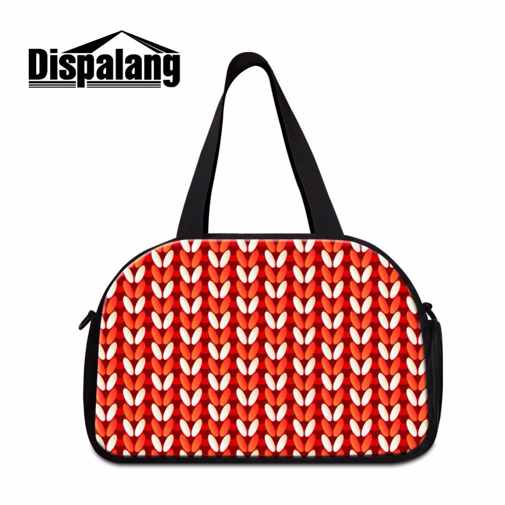 Dispalang summer style women travel bags carry on luggage bag striped print hand luggage travel duffle bag weekend bag overnight