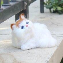 Simulation Animal Toy Cat Kids Plush Toys Pet Model Ornaments Gift