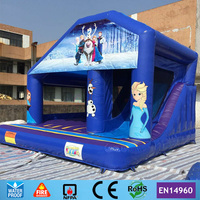 Free Shipping Commercial Cartoon Theme Inflatable Bouncer Castle Combo With Slide For Kids