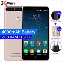 Leagoo Kiicaa Power 4000mAh 3G Mobile Phone 5 0inch 2G RAM 16G ROM MT6580A Quad Core