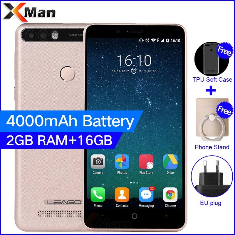 Leagoo Kiicaa Power 4000 mAh 3G Handy 5,0 zoll 2G RAM 16G ROM MT6580A Quad Core Android 7.0 8.0MP Dual Zurück kamera