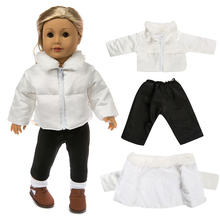 White down jacket Fit for American Girl Doll Clothes 18-inch Doll Christmas Girl Gift(only sell clothes) cheap XULEILI Unisex Fashion Accessories Suit 46cm 43cm Doll Accessories