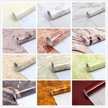 Rainqueen 60x500CM Marble Textured Wallpaper Rolls Vinyl Self Adhesive Wall Stickers Waterproof PVC Home Kitchen DIY Decoration