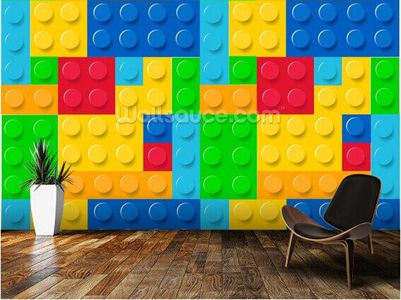 Custom Wallpaper For Children Building Blocks 3d