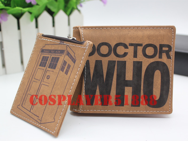 Doctor Who wallet Cartoon PU Zipper Coin Bifold Short purse doctor who dr twelfth roger hargreaves