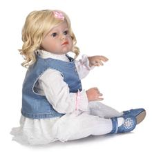 70cm Doll Reborn Toys Princess Girl Soft Silicone BeBe Lifelike Newborn Realista Babies Brinquedos