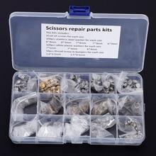 Kit de reparación de tijeras de varios tamaños, tornillos, arandelas, tijeras de salón, accesorios