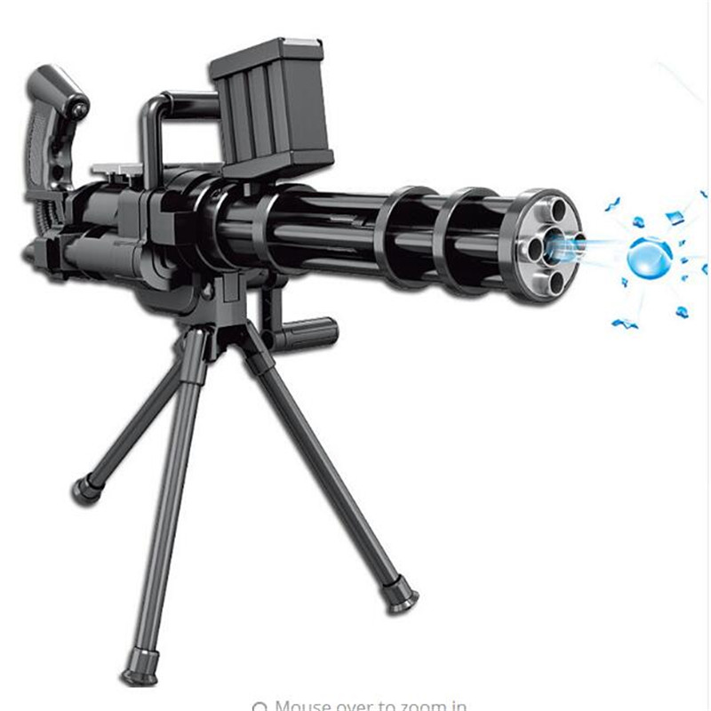 New manual series water play Gatling gun soft toy gun simulation models children play outdoors live-action CS toys Gifts For Boy