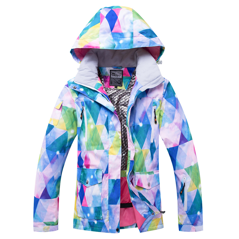 2019 Winter Ski Jacket Outdoor Sports Hiking Clothes Snowboard Coat Women Waterproof Skiing Suit Warm And Windproof Thicken
