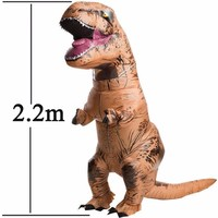 Adult T REX Inflatable Costume Christmas Cosplay Dinosaur Animal Jumpsuit Halloween Costume For Women Men