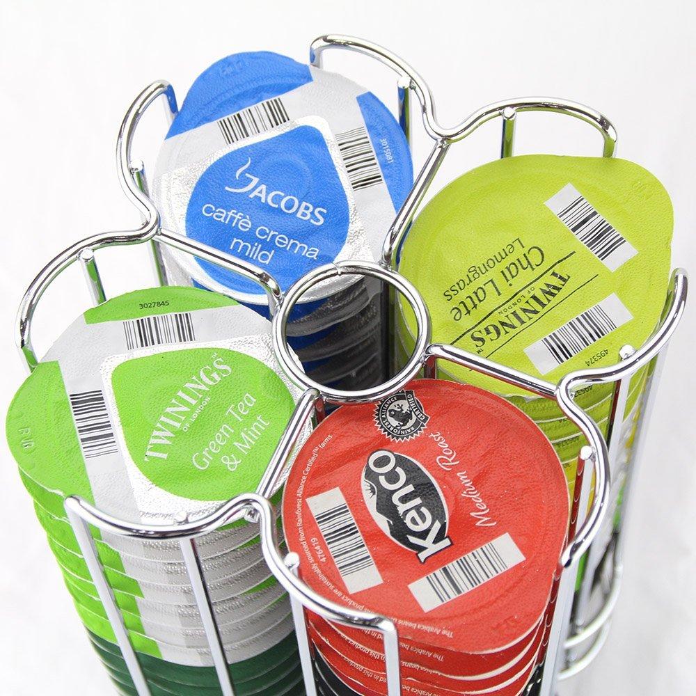 Modern Stylish 34 Coffee Pods Holder Revolving Capsule Stand Bosch Tassimo Pods