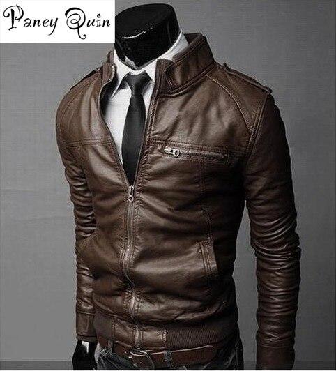 Uomo inverno maschio PU Moto giacche In Pelle cappotti cappotto Da Uomo in  pelle moto colletto della giacca versione Britannica marchio di  abbigliamento 170f1079cf83