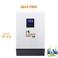 PWM Solar Power Inverter 4000W DC 48V to AC 220V 50HZ Power Inverter Pure Sine Solar Charge Controller Battery Charger Inversor