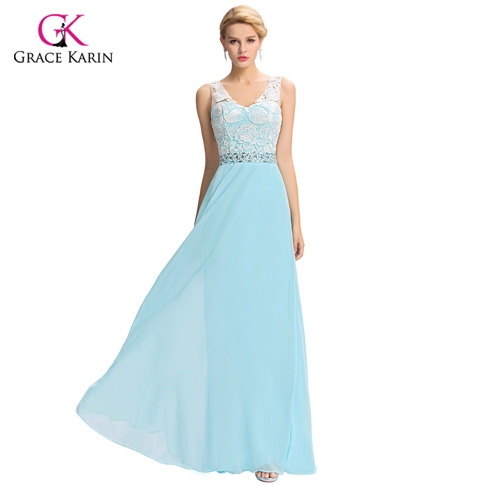 Aliexpress.com : Buy Evening Dress Grace Karin Lace V neck 2017 New ...