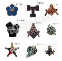Retail Masonic Lapel Pins Metal Badge Mason Freemason