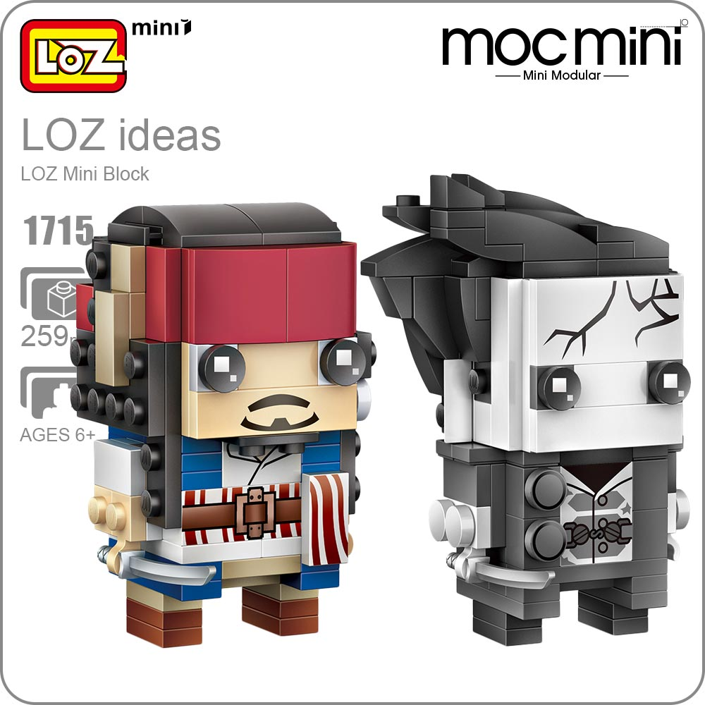 LOZ Mini Blocks Assemble Captain Pirate Figurine Action Figure Bricks Diy Cute Toys Kids Building Blocks Dolls Bricks DIY 1715 loz diamond blocks figuras classic anime figures toys captain football player blocks i block fun toys ideas nano bricks 9548