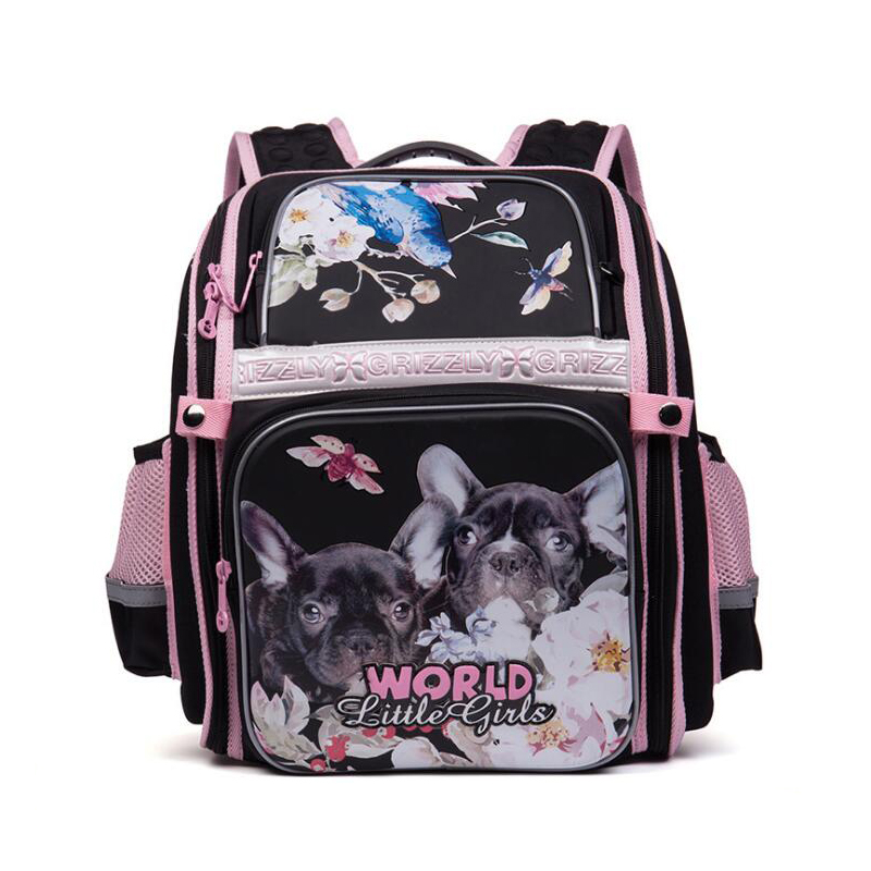 Cartoon Cat Dog Waterproof Nylon Orthopedic Backpack Children School Bags For Teenager Girls Book Bag School