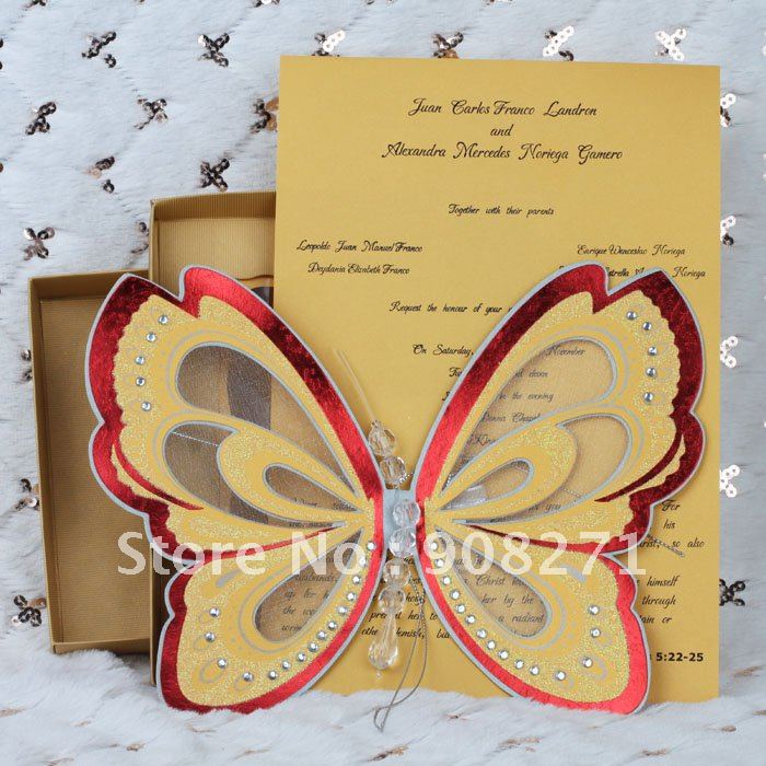 2012 New Invitation Cards Yellow Wedding Invitation Good