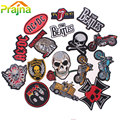 ACDC Punk Rock Patch Logo Skull Patch Biker Iron On Cheap Embroidered Motorcycle Band Patches For Clothes Stickers Jeans Badges