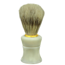 Pig Mane Shaving Cleaning Brush Beard Broken Hair Brush Beard Bubble Brush ABS+ Pig Mane D40