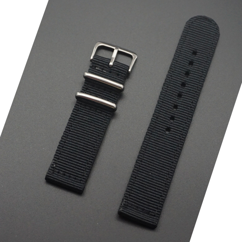MR NENG Waterproof Good Quality Thick Outdoor Nylon Fabric Watch Strap 24mm 22mm 20MM 18mm Black Green Band Watch NATO Strap