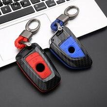 Carbon Fiber Silicone Key Case Cover For Bmw G30 F30 F10 F11 F20 F31 X3 X1 X5 X6 1 2 3 5 Accessories BMW