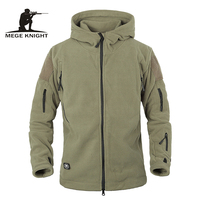 Winter Tactical Jacket Military Uniform Outdoor Soft Shell Fleece Hoody Jacket Men Thermal Hunting Clothing Hiking