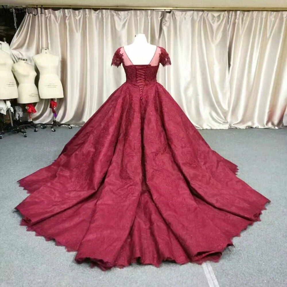 2018 Real Luxury Dark Red prinsesse blomst blonder aften kjole - Særlige occasion kjoler - Foto 2