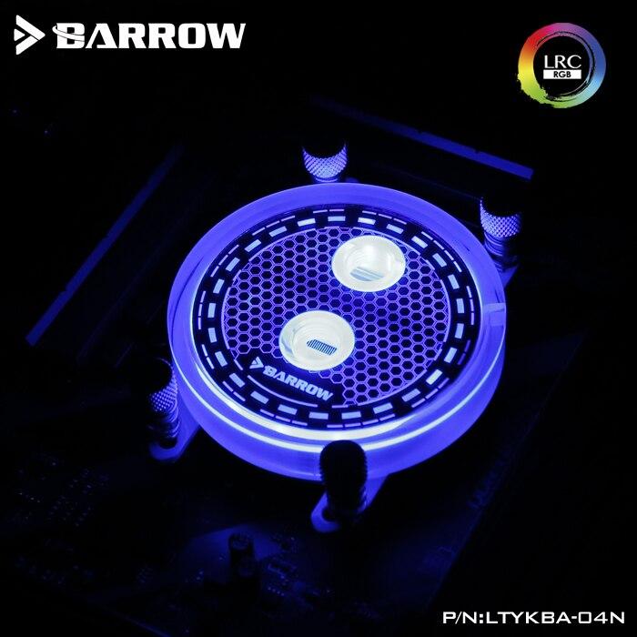Barrow AMD RGB transparent acrylic CPU waterblock microcutting micro waterway LTYKBA-04N