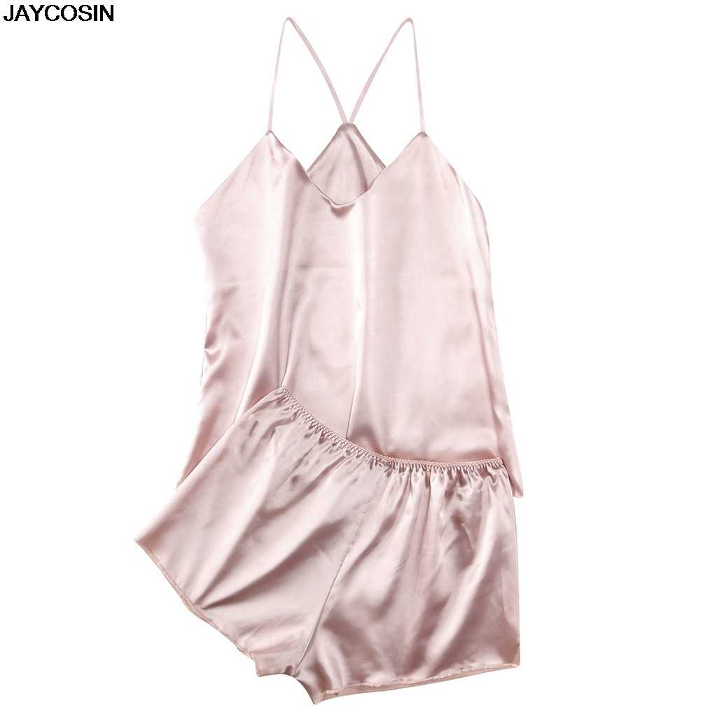 JAYCOSIN bra & brief sets Fashion Women Solid Color Sexy Passion Lingerie Babydoll Nightwear 2PC Set DIY Jumpsuit Backless 9527