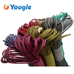 YOUGLE 550 Paracord Paracord Parachute Cord Lanyard Rope Tent Guyline Mil Spec Type III 7 Strand Core 50-100 FT 215 Colors(China)