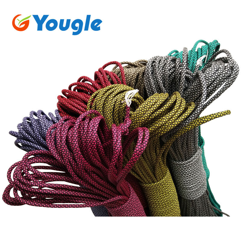 YOUGLE 550 Paracord Paracord Parachute Cord Lanyard Rope Tent Guyline Mil Spec Type III 7 Strand Core 50-100 FT 215 Colors useful convenient 3 models high low sos rotating focus led flashlight torch skid proof light lamp