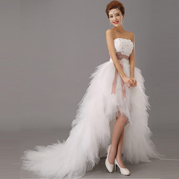 2016 Low price the bride royal princess wedding dress short train formal dress quality design wedding growns new arrival