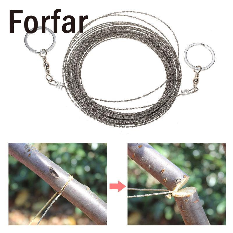 1pcs High Quality Stainless Steel Wire Saw Outdoor Practical camping Emergency Survival Gear Camping Saws Tools