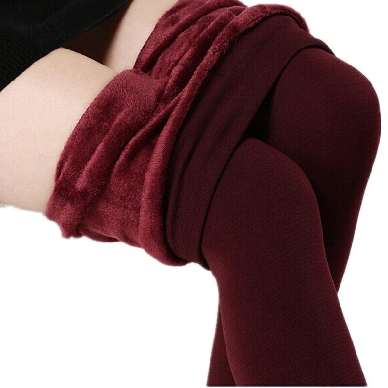 New 2016 plus cashmere leggings woman Casual Warm Winter Faux Velvet Thick Slim Elastic Leggins women out wear pants Gril Z893