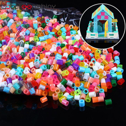 BalleenShiny 1000pcs/bag 2.6mm Mini Hama Beads Perler Beads Activity Fuse Beads Puzzle Educational Kids Diy Toy Craft Pegboard