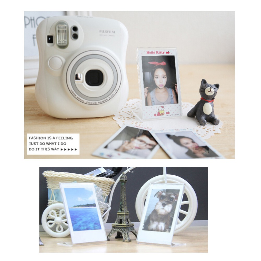 Image 3 - 2 Pieces L  Shaped Acrylic Transparent Stand Simple Photo Frame for Fujifilm Instax Mini Mini LiPlay / 7s/ 8/ 9 /70/90 Mini Film-in Camera/Video Bags from Consumer Electronics