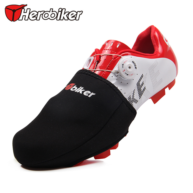 HEROBIKER Bicycle Protector Warmer Boots Cover Outdoor Sports Wear Bike Cycling Shoes Toe Cover Black 1 Pair Size EUR 39-44