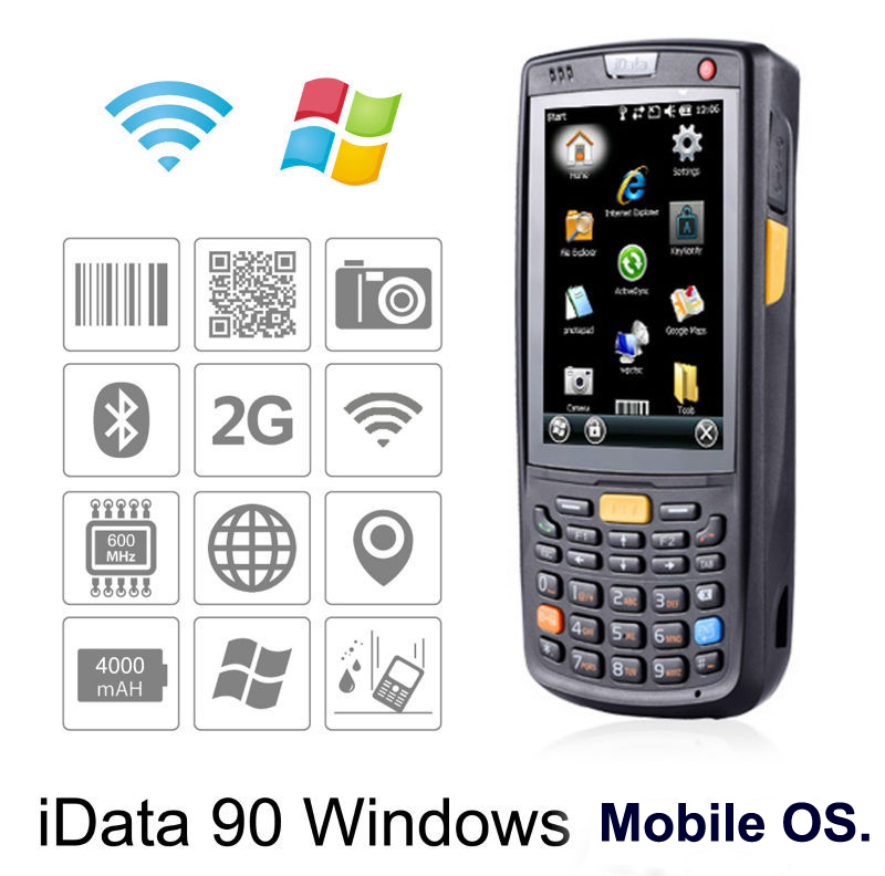 3 5 Inch Rugged Handheld Pda Windows Mobile 6 Gps Wifi 1d 2d Laser Barcode Scanner Data Terminal In Scanners From Computer Office On