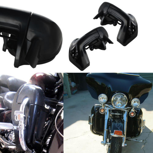 Motorcycle Painted Bright Vivid Black Lower Vented Leg Fairing With Hardware For Harley Davidson Touring HD Road King