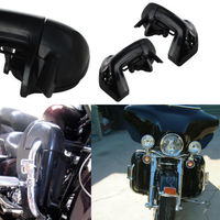 Motorcycle Painted Bright Vivid Black Lower Vented Leg Fairing With Hardware For Harley Davidson Touring HD