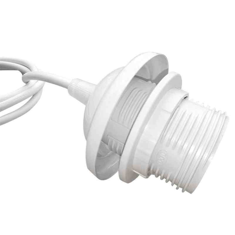 With Wire Lighting E27 Lamp Holder Socket Screw Bulb Modern Iron +PVC Convenient