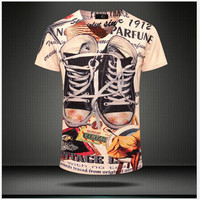 2015 Fashion Top Men Summer T Shirt Sports Casual Clothing Brand T Shirt Men S Short