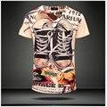 Trendsetter Mostrar 2015 nova Marca dos homens 100% algodão de manga curta t shirt Dos Homens Casual luxuosas Magros T-shirt da camisola M ~ XXL