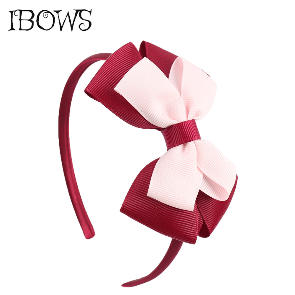 New Fashion Layered Hairbands Solid Grosgrain Ribbon Bows Headband Handmade Boutique Hairhoop Hair Accessories For Women Girls 1 pc fashion women bridal hairbands wedding hair accessories wreath tiaras flower ribbon lace summer headband