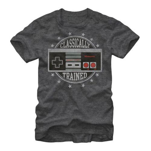 클래식 트레이닝 T 셔츠 남성 Nintendo Classic NES 비디오 게임 컨트롤 캐주얼 티 USA 사이즈 S-3XL