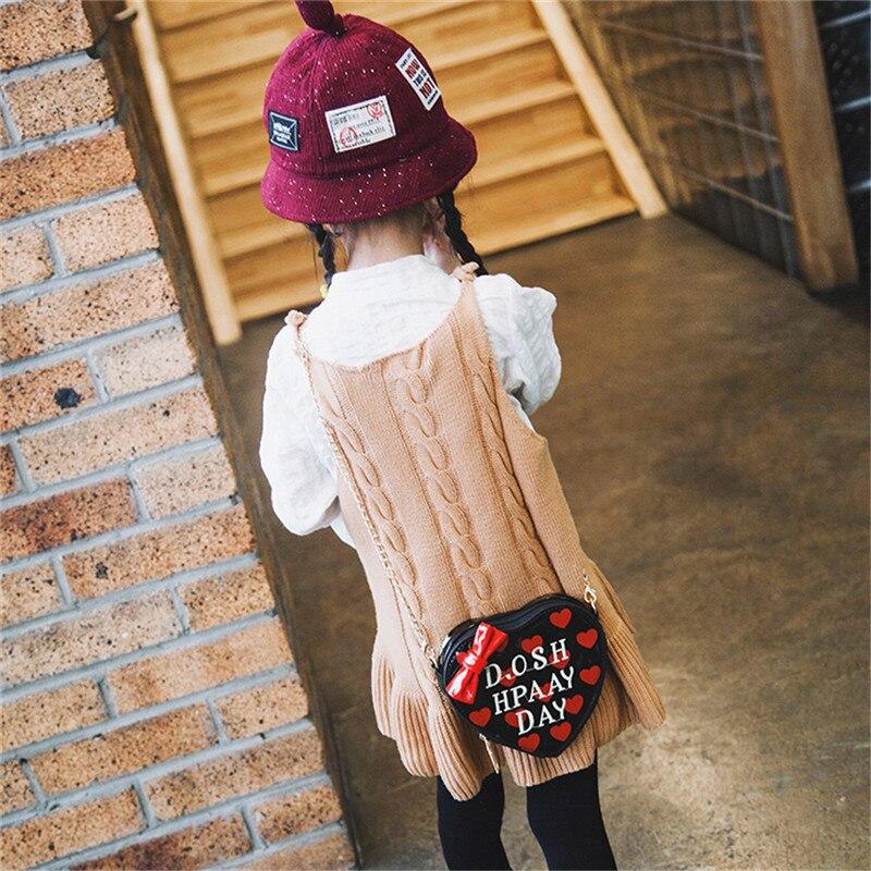 Ocardian Kinder Grils Nette Bogen Herz-form Handtasche Schulter Mini Kuriertasche Flap Mode Frauen Taschen Marke Eine 23 Crossbody-taschen Kinder- & Babytaschen