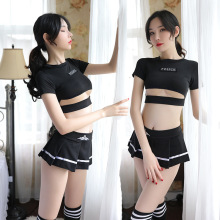 The new sexy underwear cute pure students wear miniskirt uniform seductive women suit