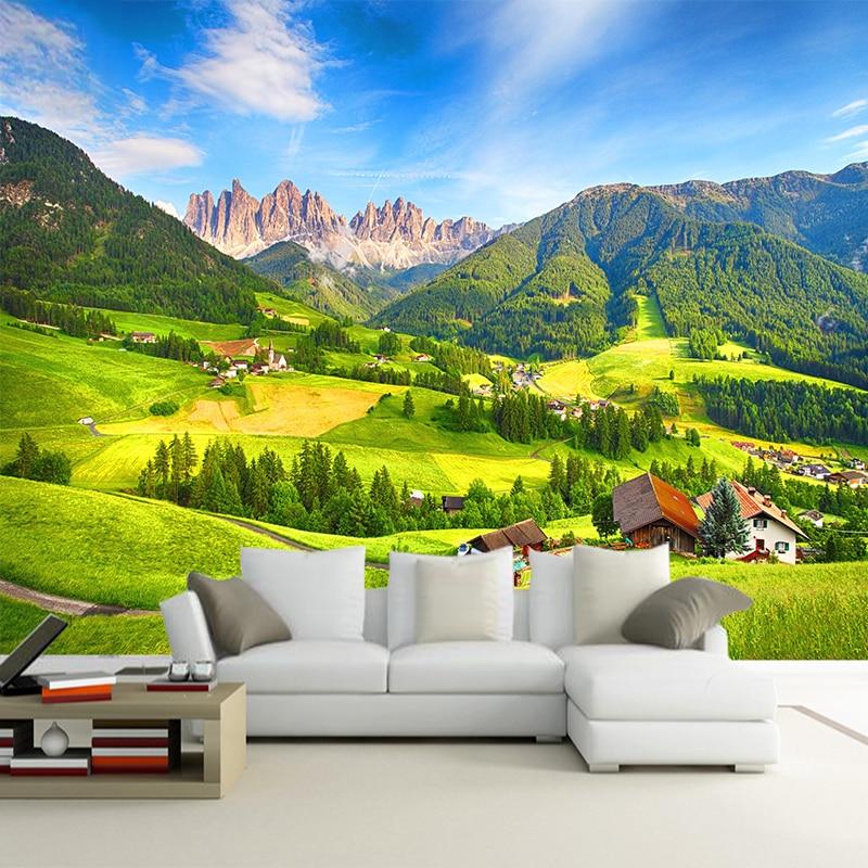 Custom Photo Wall Paper 3D Nature Landscape Bedroom Living Room TV Background Decoration Wallpaper Wall Mural Papel De Parede 3D