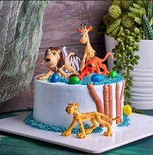 animal birthday gift topper lion tiger zebra elephant farm animal toy figure supplies party favors toy animals cake topper oenux simulation animals action figures high quality elephant tiger bird lion panda zebra shark whale animals model toy for kids